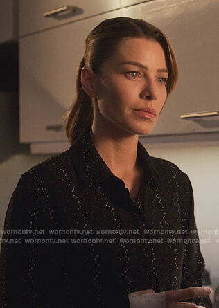 Chloe's black dotted blouse on Lucifer