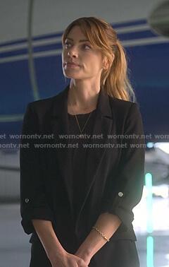 Chloe's black roll up sleeve blazer on Lucifer