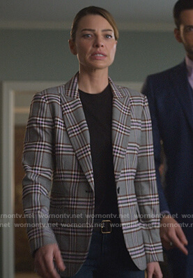 Chloe's gray plaid blazer on Lucifer