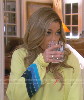 Denise's yellow lightning bolt hoodie on The Real Housewives of Beverly Hills