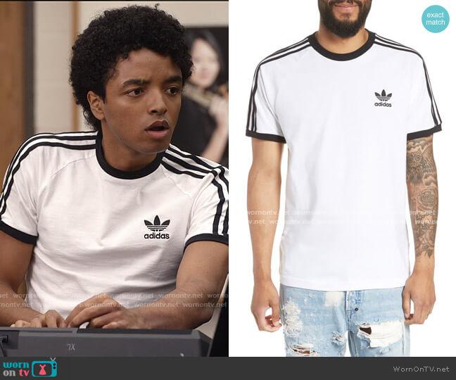 3-Stripes T-Shirt by Adidas worn by Odiseas Georgiadis on Trinkets