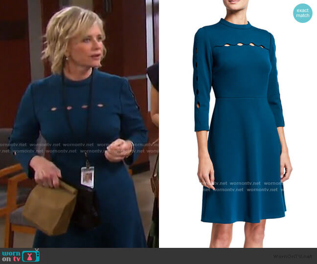 Senna Cutout Detail Dress by Elie Tahari worn by Kayla Brady (Mary Beth Evans) on Days of our Lives