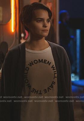 Elodie's Women Save the World tee on Trinkets