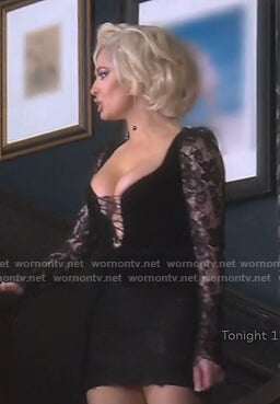 Erika's black lace corset dress on The Real Housewives of Beverly Hills