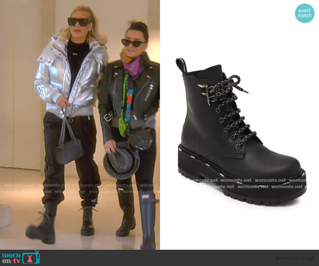 Leather Combat Boots by Fendi worn by Dorit Kemsley  on The Real Housewives of Beverly Hills