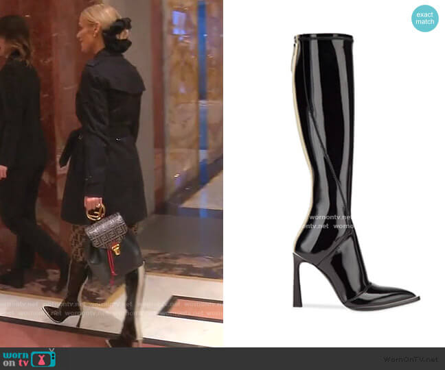 Patent Leather Pointed Toe Boots by Fendi worn by Dorit Kemsley  on The Real Housewives of Beverly Hills