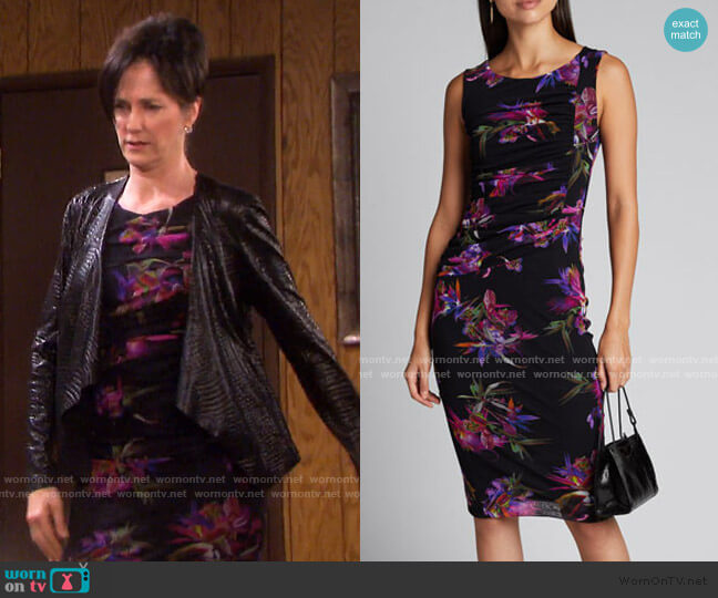 Floral Tulle Mesh Tank Dress by Fuzzi worn by Eve Donovan (Kassie DePaiva) on Days of our Lives