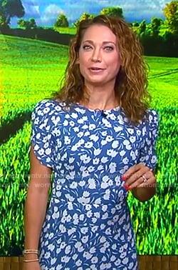Ginger's blue floral dress on Good Morning America