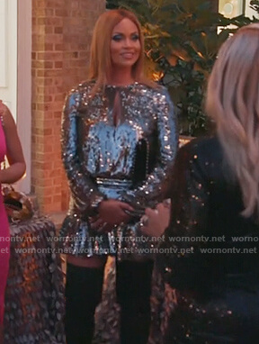 Gizelle's sequin mini dress on The Real Housewives of Potomac
