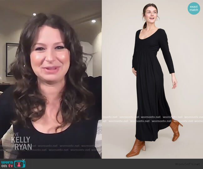 The Phoebe Dress by Hatch worn by Katie Lowes on Live with Kelly and Ryan