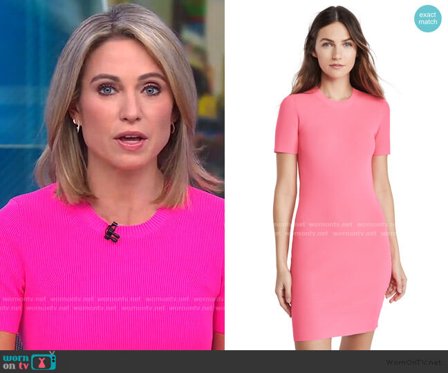 Jersey Mini Dress by Helmut Lang worn by Amy Robach  on Good Morning America