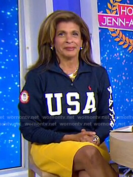 Hoda's navy USA sweatshirt on Today