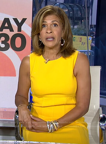 Hoda's yellow sleeveless dress on Today