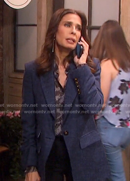 Hope's blue blazer on Days of our Lives