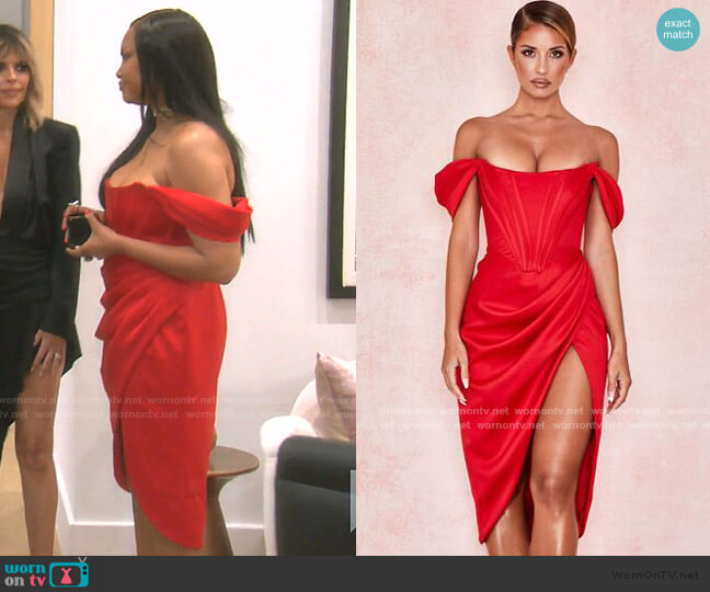 Loretta Dress by House of CB worn by Garcelle Beauvais  on The Real Housewives of Beverly Hills