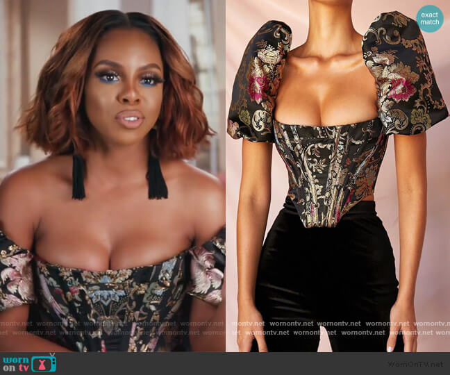 Isabella Top by House of CB worn by Candiace Dillard Bassett  on The Real Housewives of Potomac