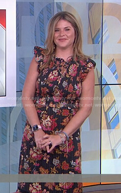 Jenna's black floral smocked dress on Today