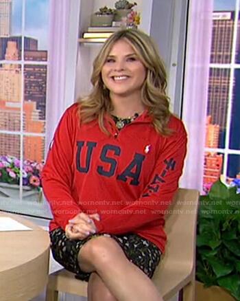 Jenna's USA sweatshirt on Today