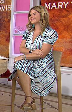 Jenna's tie dye striped wrap dress on Today
