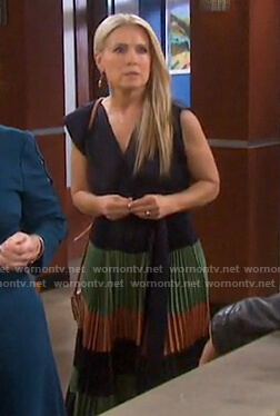 Jennifer's colorblock pleated dress on Days of our Lives