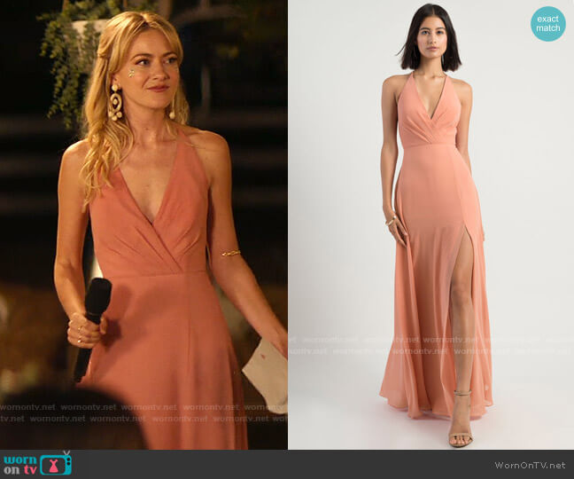 Jenny Yoo Bryce Gown worn by Misty (Meredith Hagner) on Palm Springs (2020)