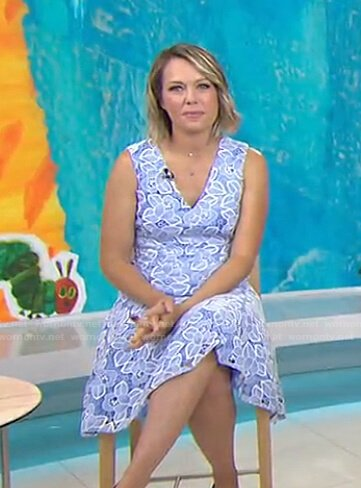 Dylan's blue floral lace dress on Today