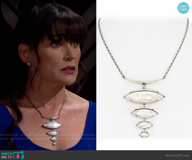 Kendra Scott Morris Bib Necklace worn by Quinn Fuller (Rena Sofer) on The Bold & the Beautiful