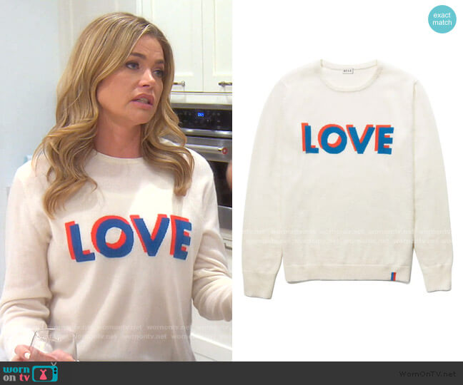 The Love Sweater by Kule worn by Denise Richards  on The Real Housewives of Beverly Hills