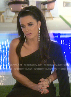 Kyle's black one-shoulder dress on The Real Housewives of Beverly Hills