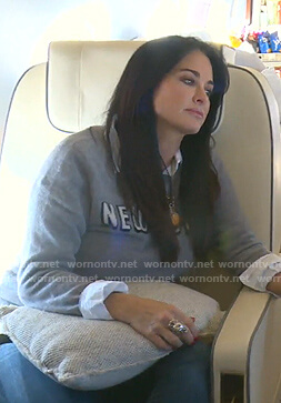 Kyle's grey New York sweater on The Real Housewives of Beverly Hills