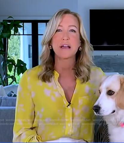 Lara's yellow floral blouse on Good Morning America
