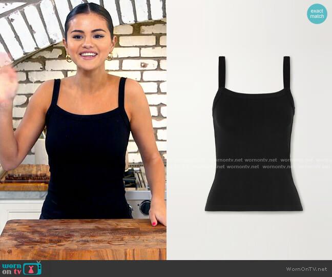 Leset Rio stretch-jersey tank worn by Selena Gomez  on Selena + Chef