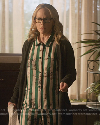 Linda's stripe floral pajamas on Lucifer