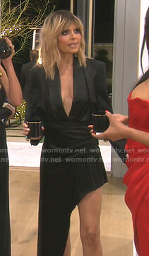Lisa's black asymmetric dress on The Real Housewives of Beverly Hills
