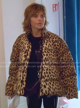 Lisa's leopard print puffer jacket on The Real Housewives of Beverly Hills