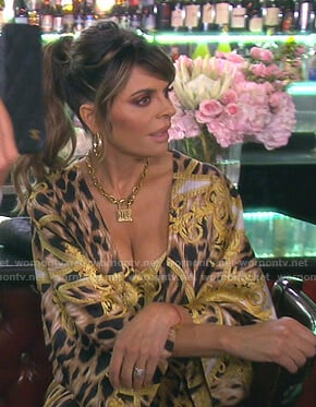 Lisa's leopard print cami and kimono on The Real Housewives of Beverly Hills