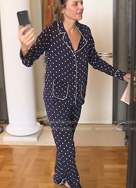 Lisa's navy polka dot pajamas on The Real Housewives of Beverly Hills