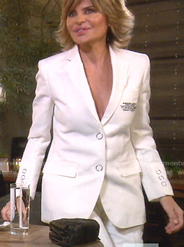 Lisa's white suit on The Real Housewives of Beverly Hills