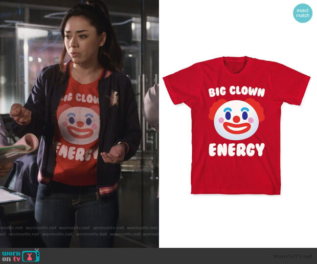 Big Clown Energy Tee by Look Human worn by Ella Lopez (Aimee Garcia) on Lucifer