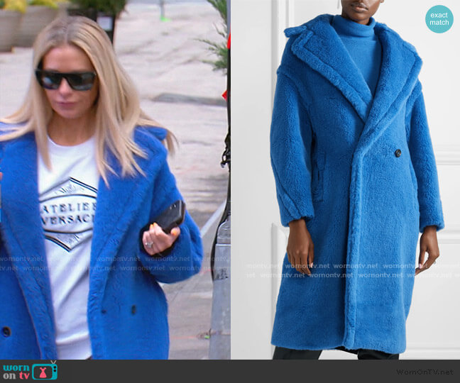 Teddy Bear Alpaca-Blend Coat by Max Mara worn by Dorit Kemsley  on The Real Housewives of Beverly Hills