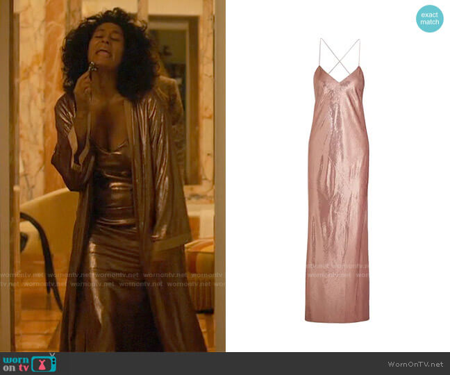 Michelle Mason Metallic velvet gown worn by Grace Davis (Tracee Ellis Ross) on The High Note
