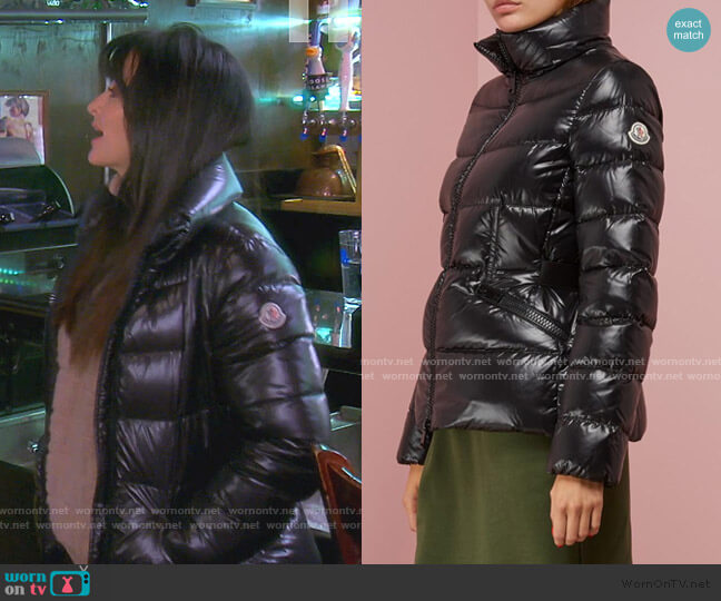 Danae Down Jacket by Moncler worn by Kyle Richards  on The Real Housewives of Beverly Hills