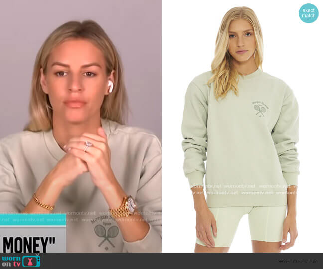 Peppermint Sweatshirt by Morgan Stewart Sport worn by Morgan Stewart  on E! News