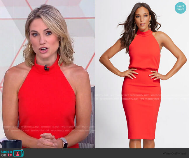 Halter Dress - Gabrielle Union Collection by New York & Company worn by Amy Robach  on Good Morning America