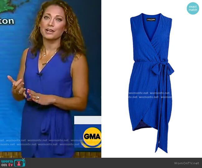 Sleeveless Wrap Dress - Gabrielle Union Collection by New York & Company worn by Ginger Zee  on Good Morning America