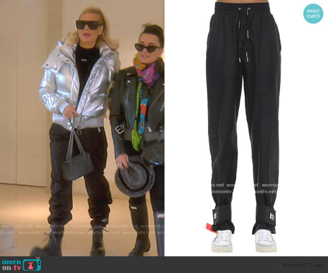 Nylon Track Pants by Off-White worn by Dorit Kemsley  on The Real Housewives of Beverly Hills