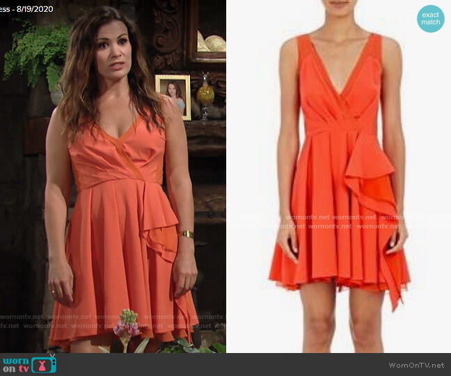 Philosophy Di Lorenzo Serafini Chiffon Surplice Dress worn by Chelsea Lawson (Melissa Claire Egan) on The Young & the Restless