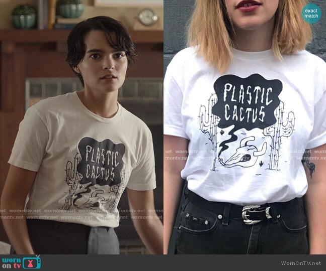 Plastic Cactus T-Shirt by Plastic Cactus worn by Elodie Davis (Brianna Hildebrand) on Trinkets