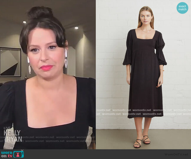 Linen Doreen Dress by Rachel Pally worn by Katie Lowes on Live with Kelly and Ryan