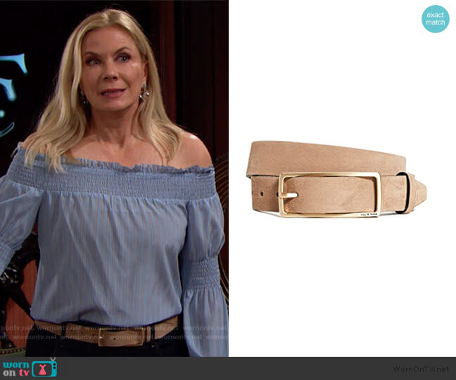 Rebound Belt by Rag and Bone worn by Brooke Logan (Katherine Kelly Lang) on The Bold & the Beautiful